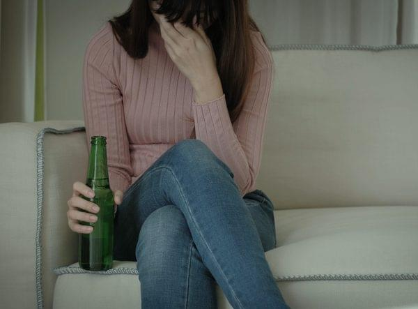 Woman With An Addiction to Alcohol