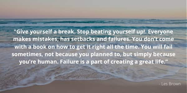 Inspiring Mental Health Quote by Les Brown