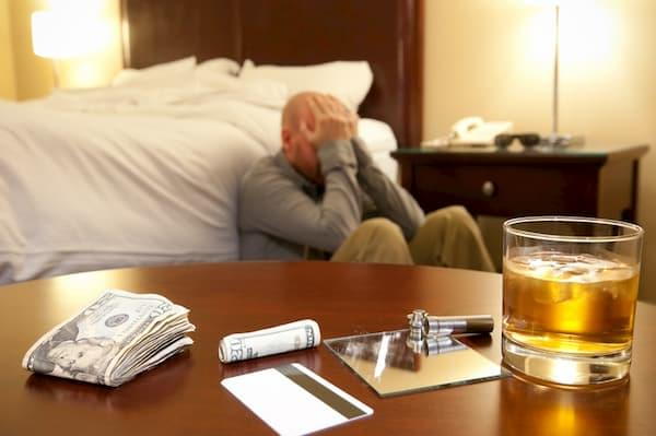 Man struggling with mental health after taking cocaine